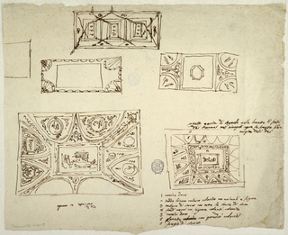Drawing, Five Ceiling Schemes