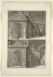Print, Plate in Nouveaux Livre de Parterres contenant 24 pensséz diferantes (New Book Containing 24 Different Variations for Garden Beds)