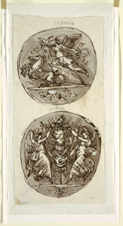 Drawing, Two Victories in Roundels