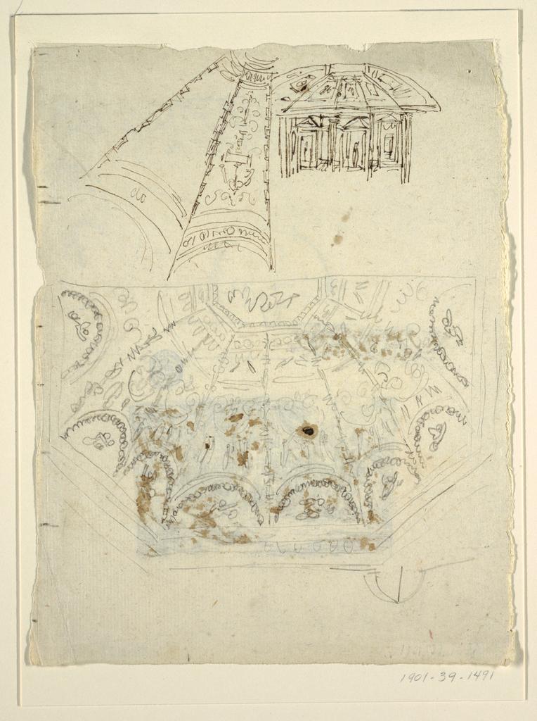 Drawing, Study for the Sala di Apollo, Palazzo Milzetti, Faenza
