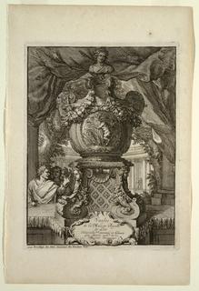 Print, Title Page, Vasses de la Maison Royalle de L'oo Nouvellement (Vessels of the Royal House of L'oo)