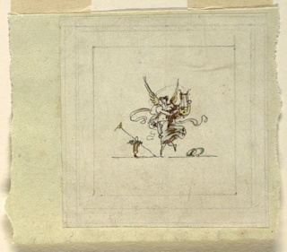 Drawing, Dancing Fame with Lyre, Sala di Recezione, Palazzo Quirinale, Rome