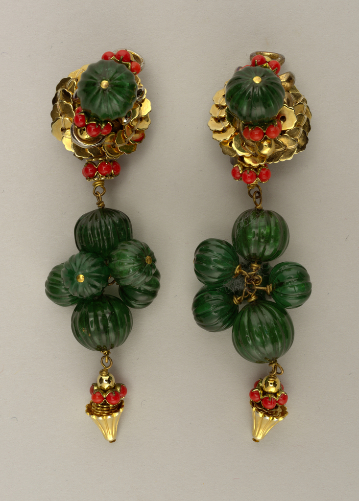 Earrings (India), ca. 1960–70