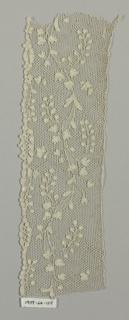 Serpentine floral pattern.