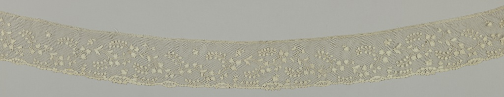 Serpentine floral pattern.