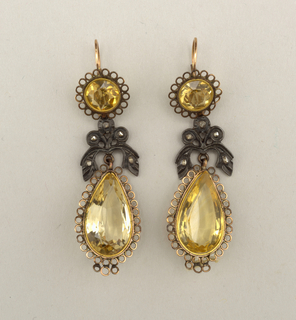 Earrings (France), 19th century