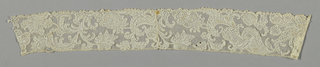 Band with floral scrolls.