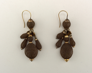 Earrings (USA), ca. 1860