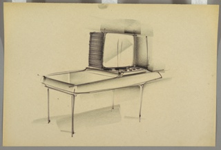 Drawing, Television Housing