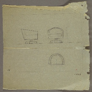 Drawing, Tubchair, Swivel, Upholstered, ca. 1936