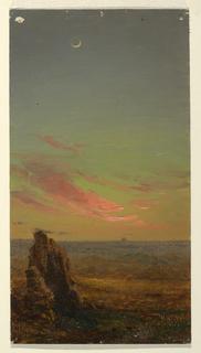 Drawing, Sunset near Rome, 1868–69