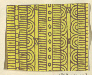 Drawing, Design for Textile:  Ozone, designed 1923