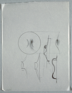 Drawing, MS2500: Sketches of knob