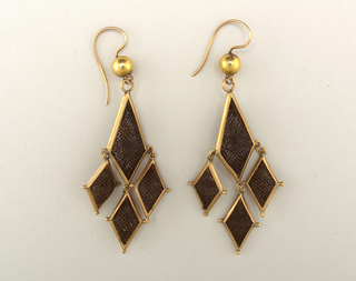 Earrings (USA), ca. 1860–80
