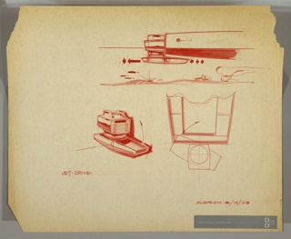 Drawing, Jet-Driven Engine, August 15, 1963