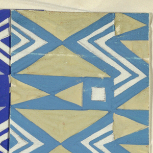 Drawing, Textile Design: Serpentin (Serpentine)