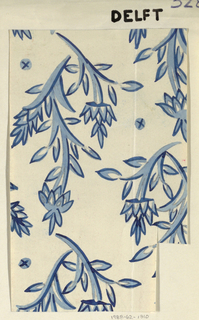Drawing, Textile Design: Delft