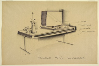Drawing, Design for Molded Televis, ca. 1962