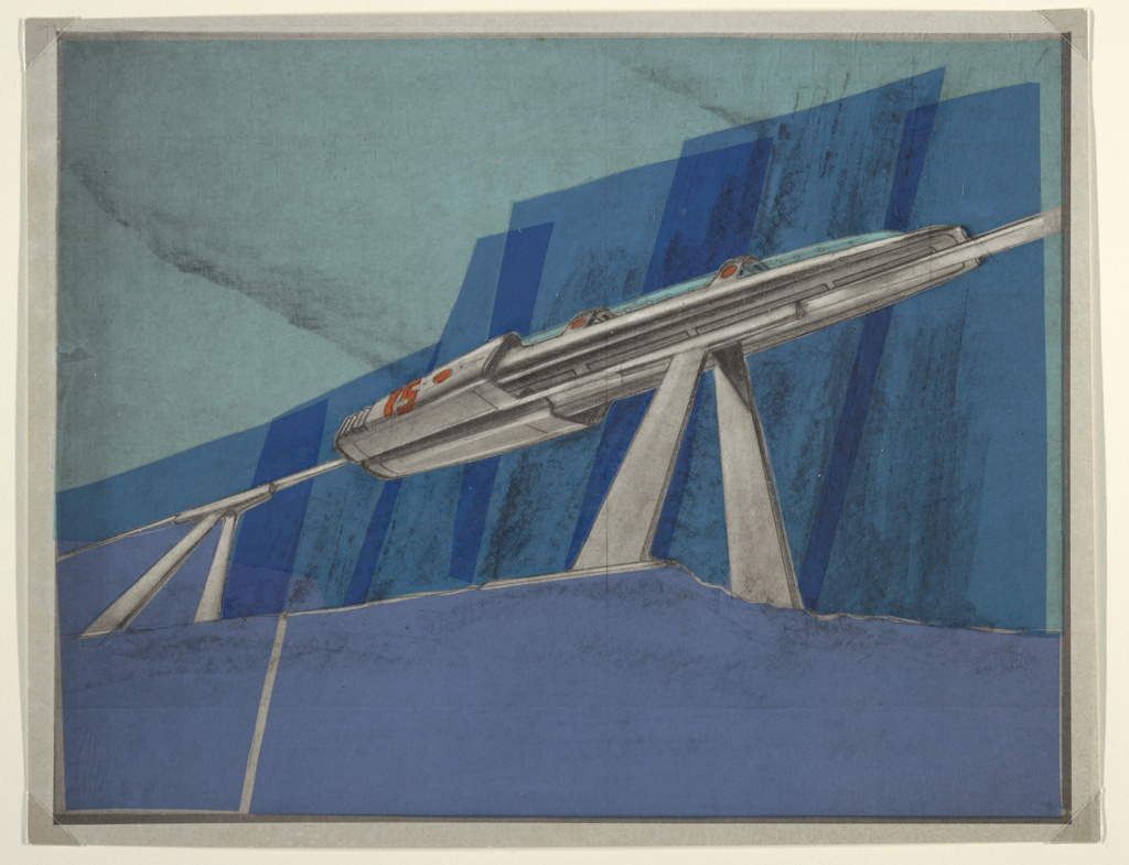 Drawing, Design for Monorail, MacArthur Airport, Long Island, NY