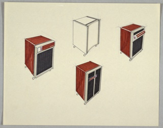Drawing, Four Air Purifiers
