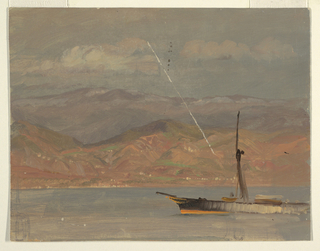 Drawing, Italian Coast, off Straits of Messina