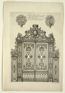 Print, Title Page, Nouveau Livre de Serrurie (New Book of Ironsmithing)