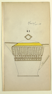 Drawing, Design for a Creamer