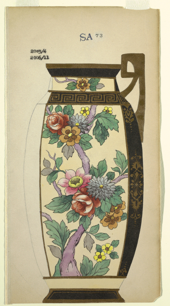 Drawing, Design for a Jug