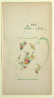 Drawing, Design for a Teapot