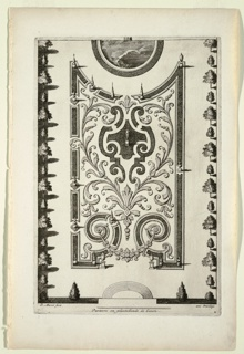 Print, Parterre en platebende de Gazon (Flat Garden Beds with Grass), in Nouveaux Livre de Parterres contenant 24 pensséz diferantes (New Book Containing 24 Different Variations for Garden Beds)