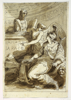 Drawing, Monument for an Accademia della Pace