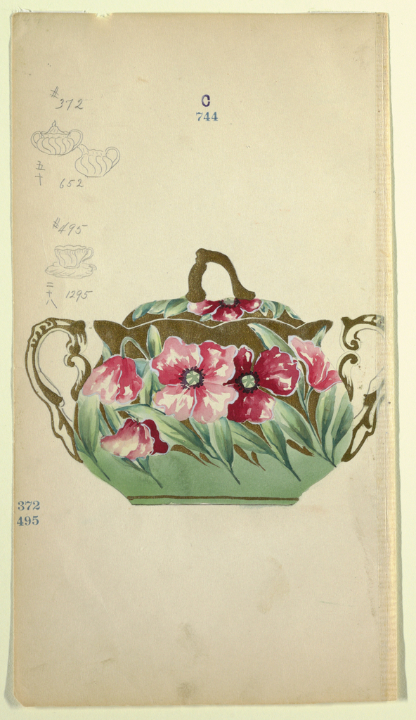 Drawing, Design for a Sugar Bowl