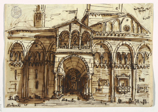 Sketchbook Folio, The Facade of Modena Cath