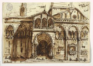 Sketchbook Folio, The Facade of Modena Cath