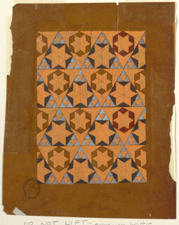 Drawing, Design for a Woven Fabric, 1825–50