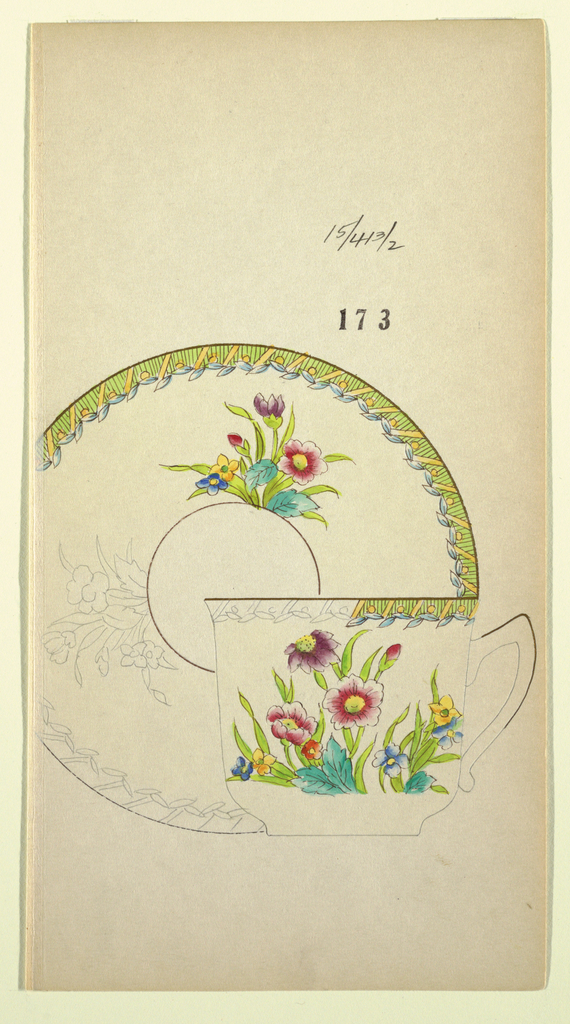 Drawing, Design for a Cup or Saucer