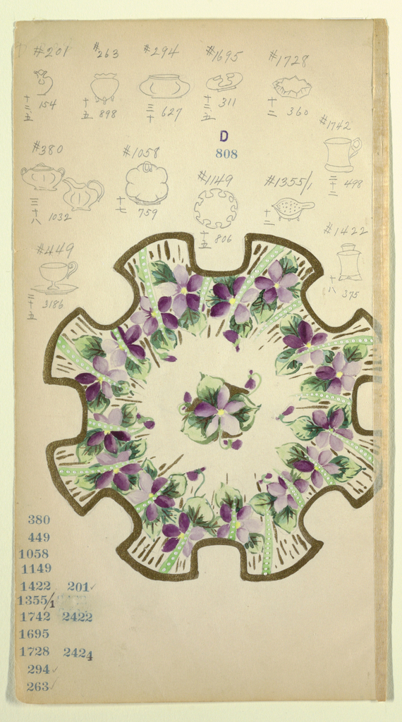 Drawing, Design for a Plate