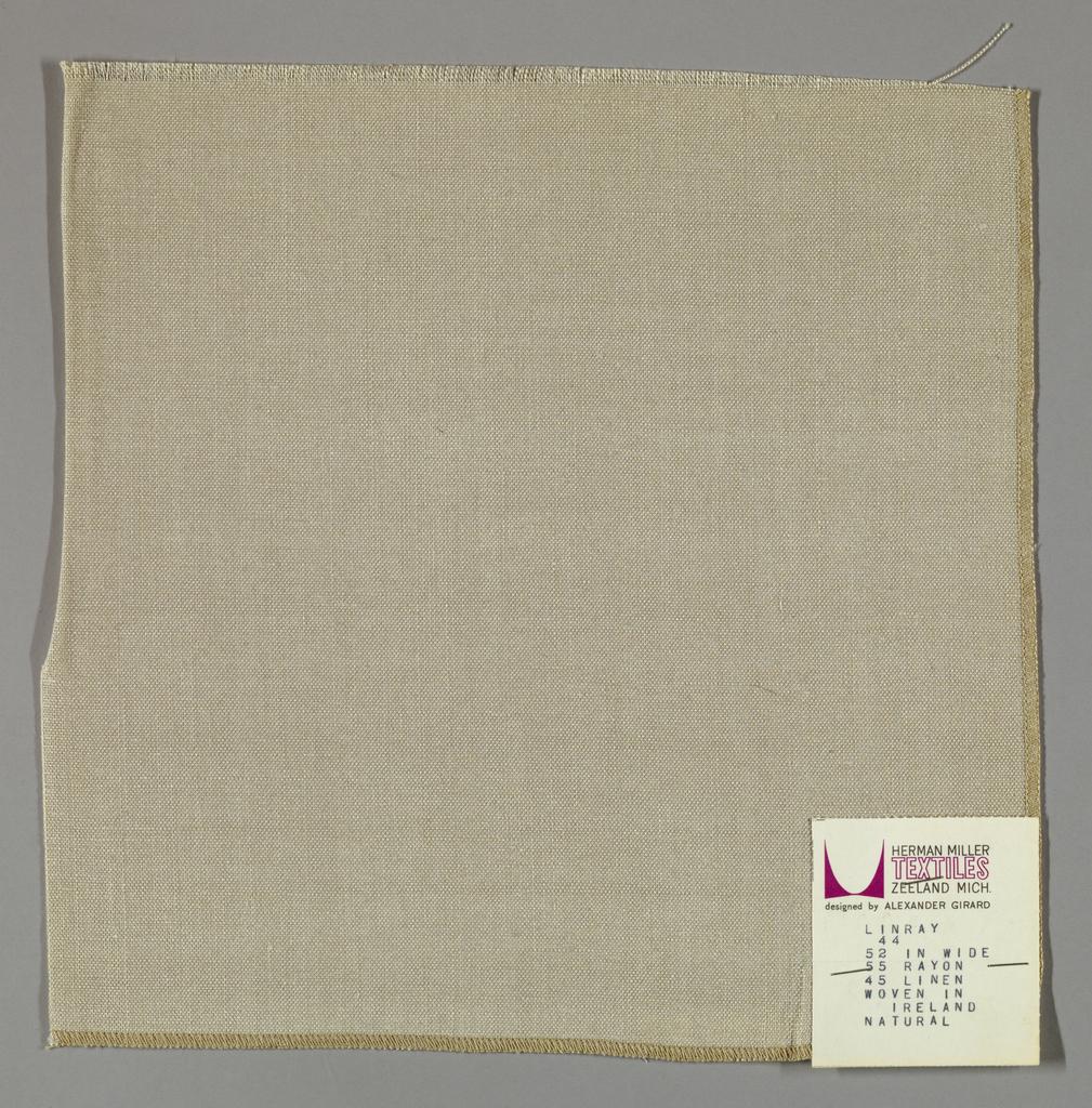 Plain weave in light brown.