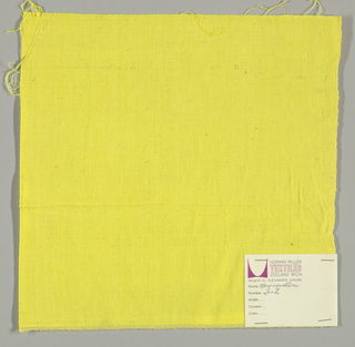 Plain-woven cotton in solid yellow.