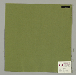 Plain weave in olive green.