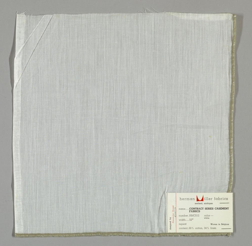 Plain weave in sheer white.