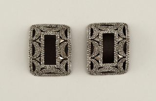 Pair of cut-steel shoe buckles Buckle, late 19th–early 20th century