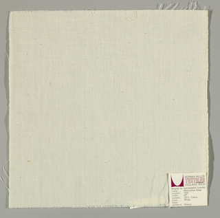 Plain-woven cotton in white.
