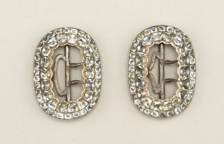 Pair of knee buckles Buckle, 18th century