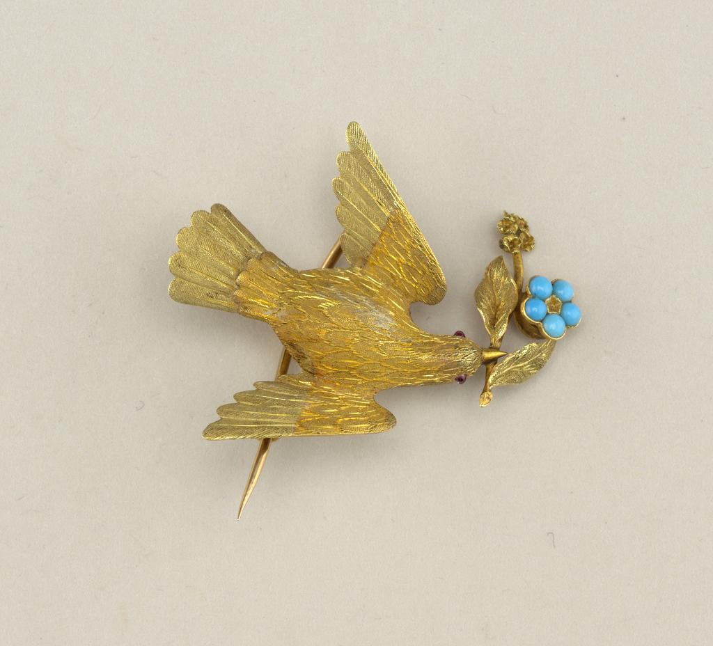 Bird brooch Brooch, ca. 1850