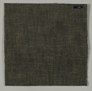 Plain weave with black warp and light brown weft. Heavy nylon yarns give a coarse surface texture.