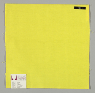 Plain weave in bright yellow.