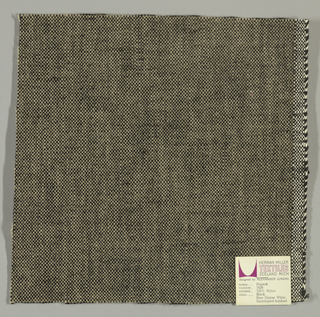 Plain weave with grey warp and black weft. Heavy nylon yarns give a coarse surface texture.