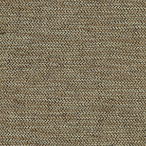Weft-faced plain weave in light brown, white and black. The light brown and white weft threads give the predominant color. There are black warp threads which appear on the surface. A black binding warp is visible on the reverse.