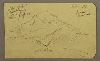 Drawing, Mountain, February 1890